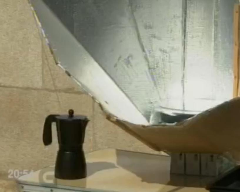 A cociña solar na TVG