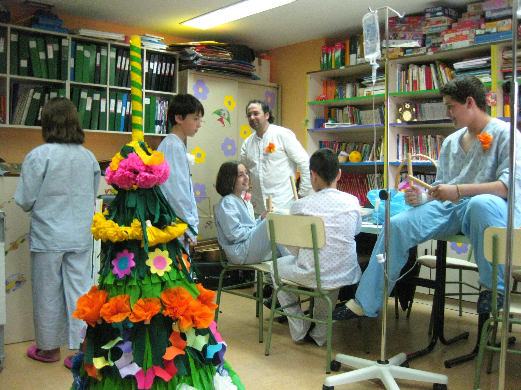 A festas dos maios no hospital