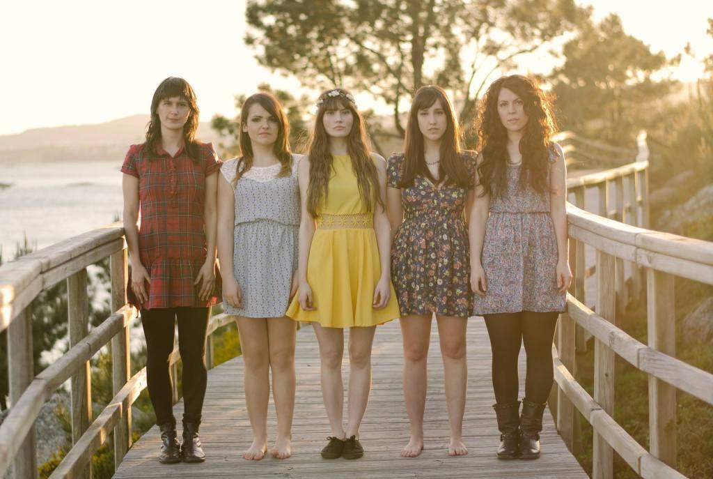 Cinco rapazas de Boiro en Texas