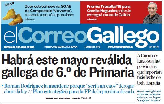 Zoar en El Correo Gallego