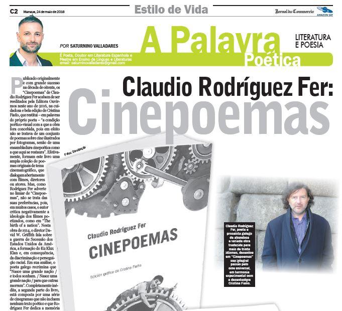 """Reseña de """"Cinepoemas"""" no Brasil"""