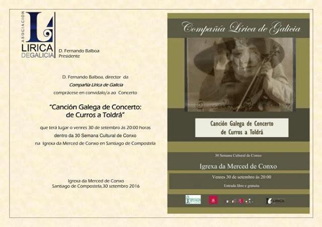 Concerto lírico de Canción Galega en Conxo