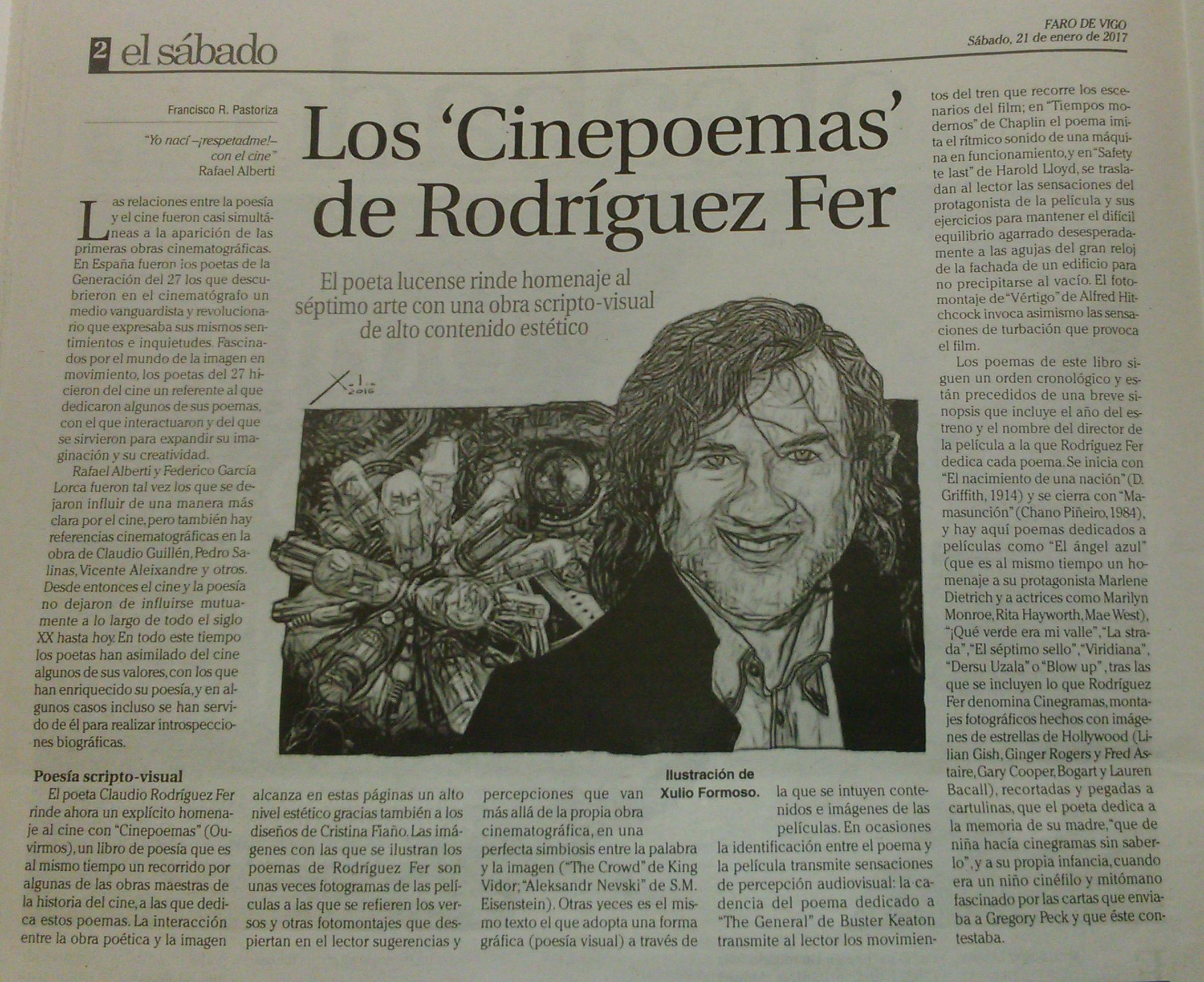 """Os """"Cinepoemas"""" no Faro de Vigo"""